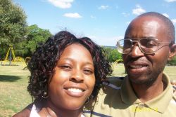 Christian single finds love online and pose together in South Africa