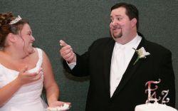 Zach offers Melody some cake