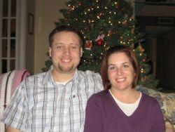 California Christian couple at Christmas