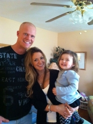 Mike, Heather and Sydney sharing happy moments together
