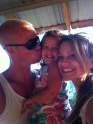 Heather as happy as can be with her family!