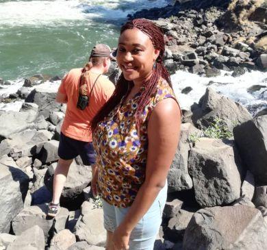 Beautiful Zambian Christian by ocean
