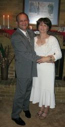 Nice holds his bride Donna