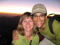 Beautiful sunset at Mount Sinai