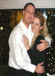 Spanish Christian hugs his beautiful Albanian wife