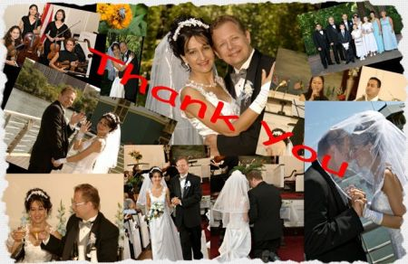 Collage of wedding photos between American and Bulgaria Christians