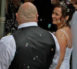 Excited bride marries dream man