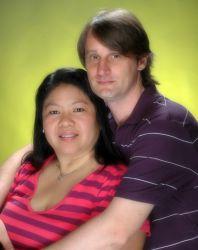 Happy Christian couple engaged