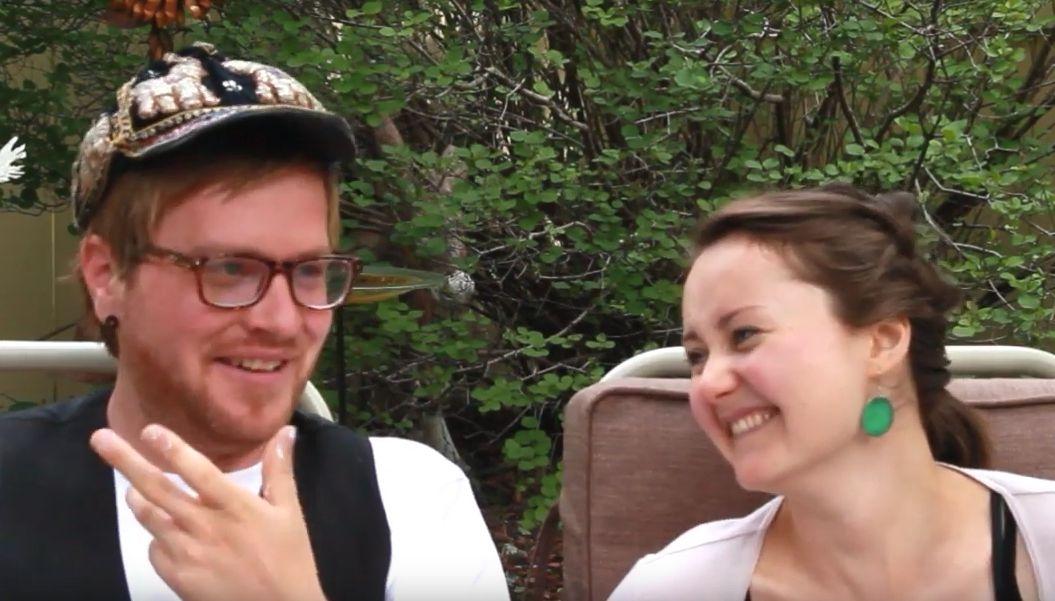 Jason and Pirita laughing