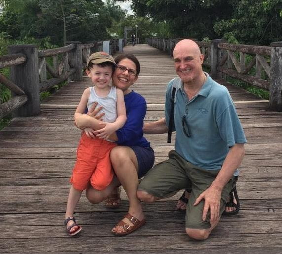 Richard and Soraya with their Cafe Baby, John - what a great family!