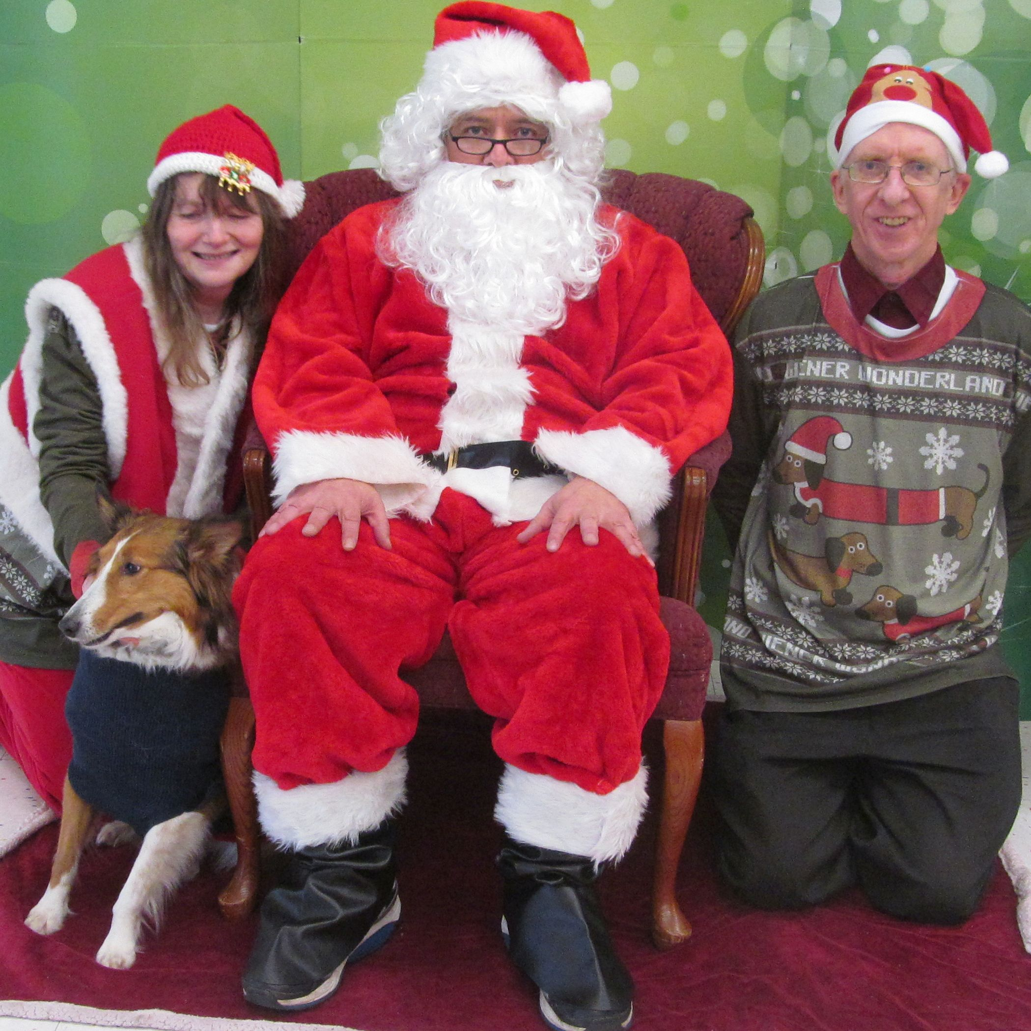 Ken and Sarah with the man in red