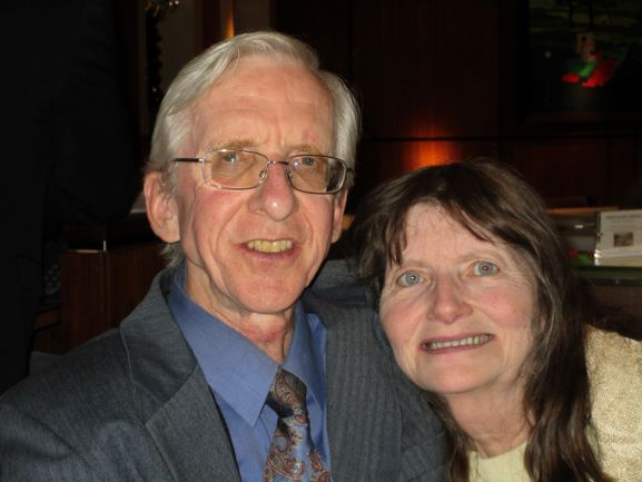 Former widowed Christians in love, smiling together