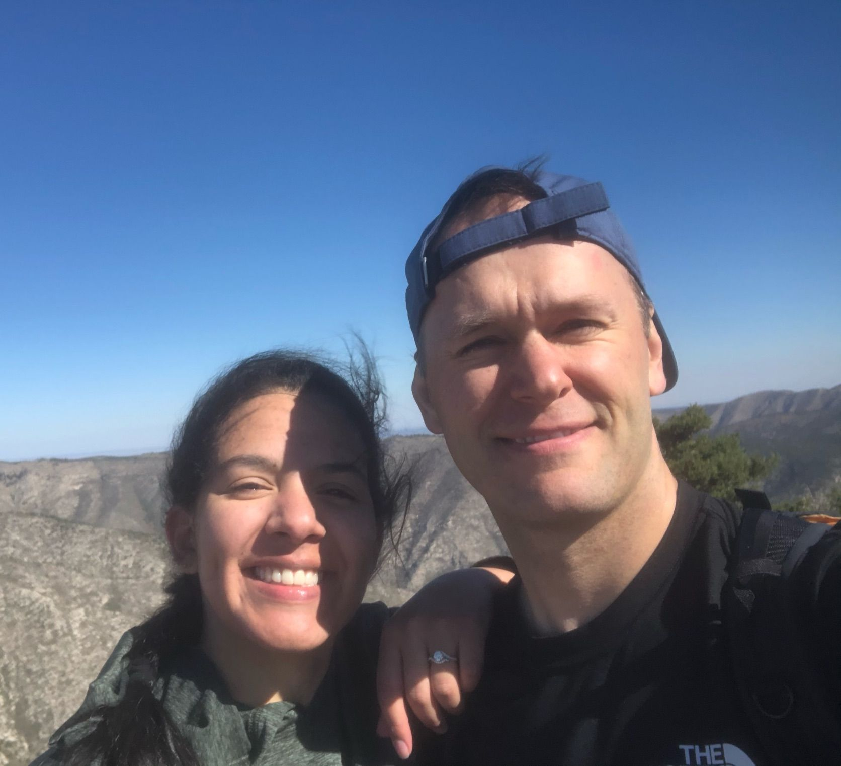 Christian couple out for a hike