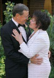 Senior Christians in love prepare to kiss
