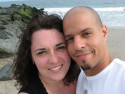Long distance relationship for Ontario Christian woman meeting her NY Christian husband at the beach