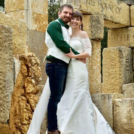 Beautiful young Christian couple smiling