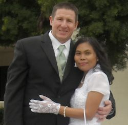 Years of prayer leads to marriage for this interracial couple who hug