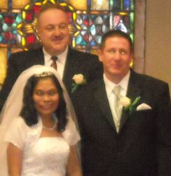 Married couple introduced by pastor