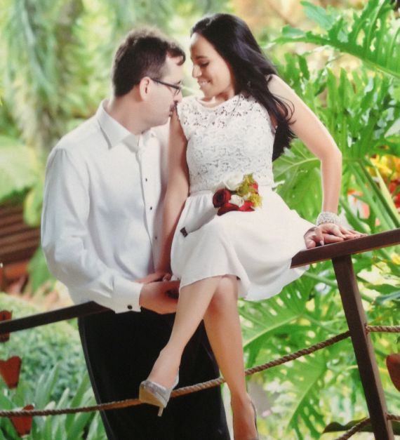 Steven and Fanny share a special moment on their wedding day