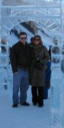 Mary and Steven at the ice hotel