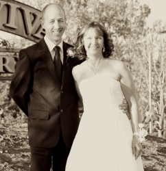 David and Susan, happily married in September