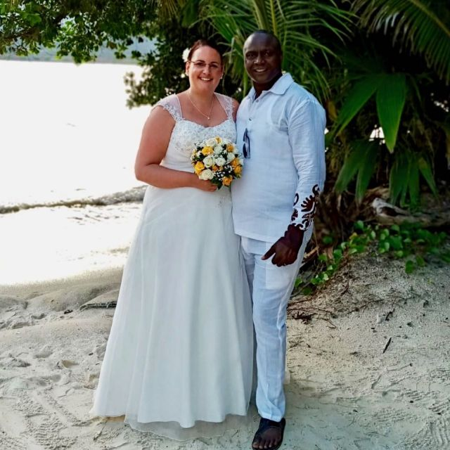 The beautiful couple in beautiful Seychelles