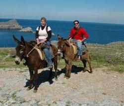 Former California Christian singles on horseback