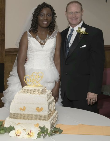 Interracial Christian couple so happy to be married