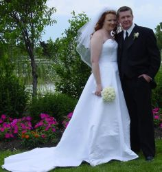 Ontario Christians look very happy together on their wedding day