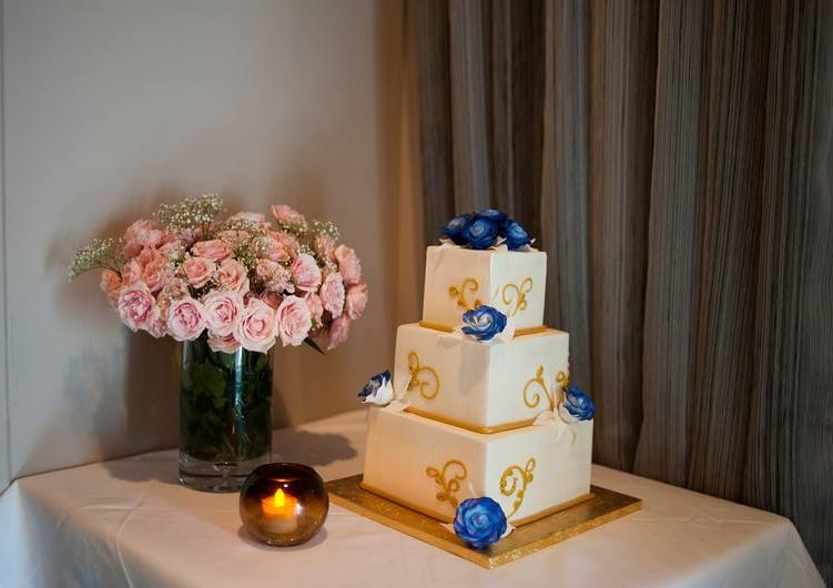 What a beautifully decorated wedding cake!