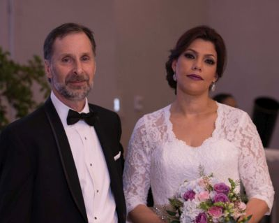 Newly Wedded Couple looking satisfied after ceremony
